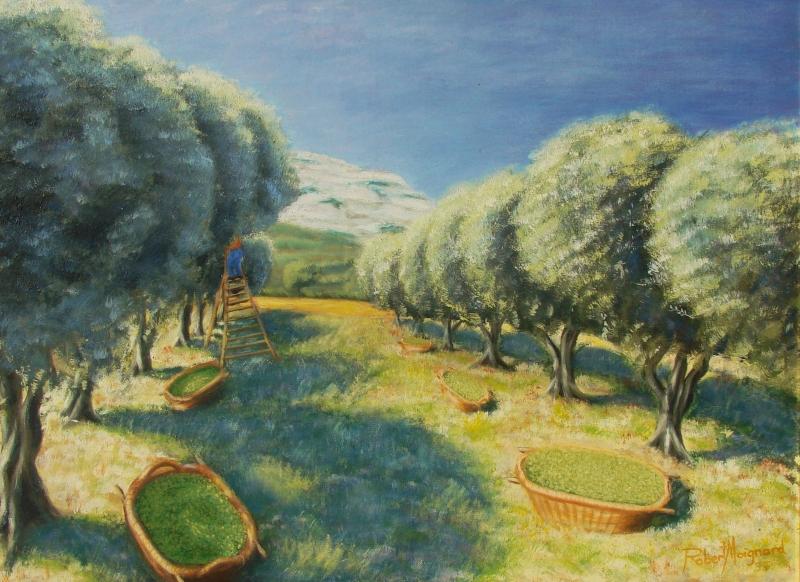 6-huile-sur-toile-paysages-de-provence-les-alpilles