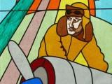 vitrail chapelle de l'aviation Lescar 64