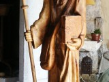 sculptureSaint Jacques  en noyer de 1.50 de haut