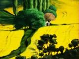 peinture huile sur toile paysages de Provences Valensole