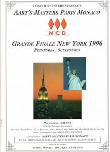 couverture du catalogue du concours International de NewYork 1996