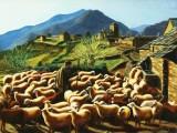 peinture huile sur toile paysages des Pyrénnées