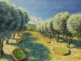 peinture huile sur toile paysages de Provence les Alpilles